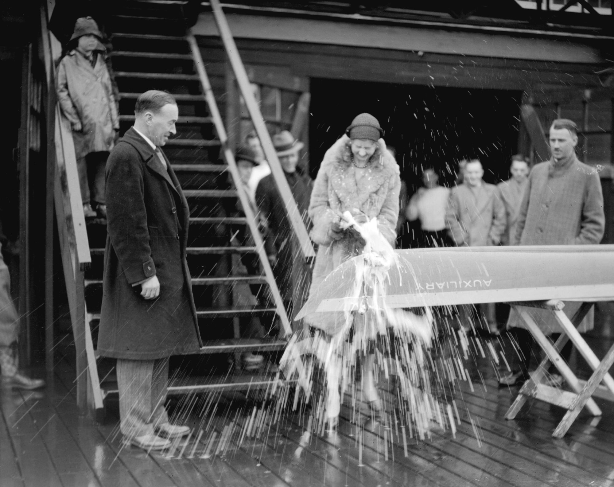 1931-christening-a-new-boat